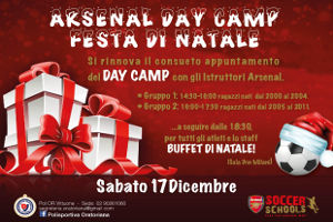 Arsenal Day Camp Natale 2016 - 17/12/2016